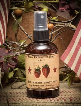 Herbal Star Candles Strawberry Shortcake Room Spray