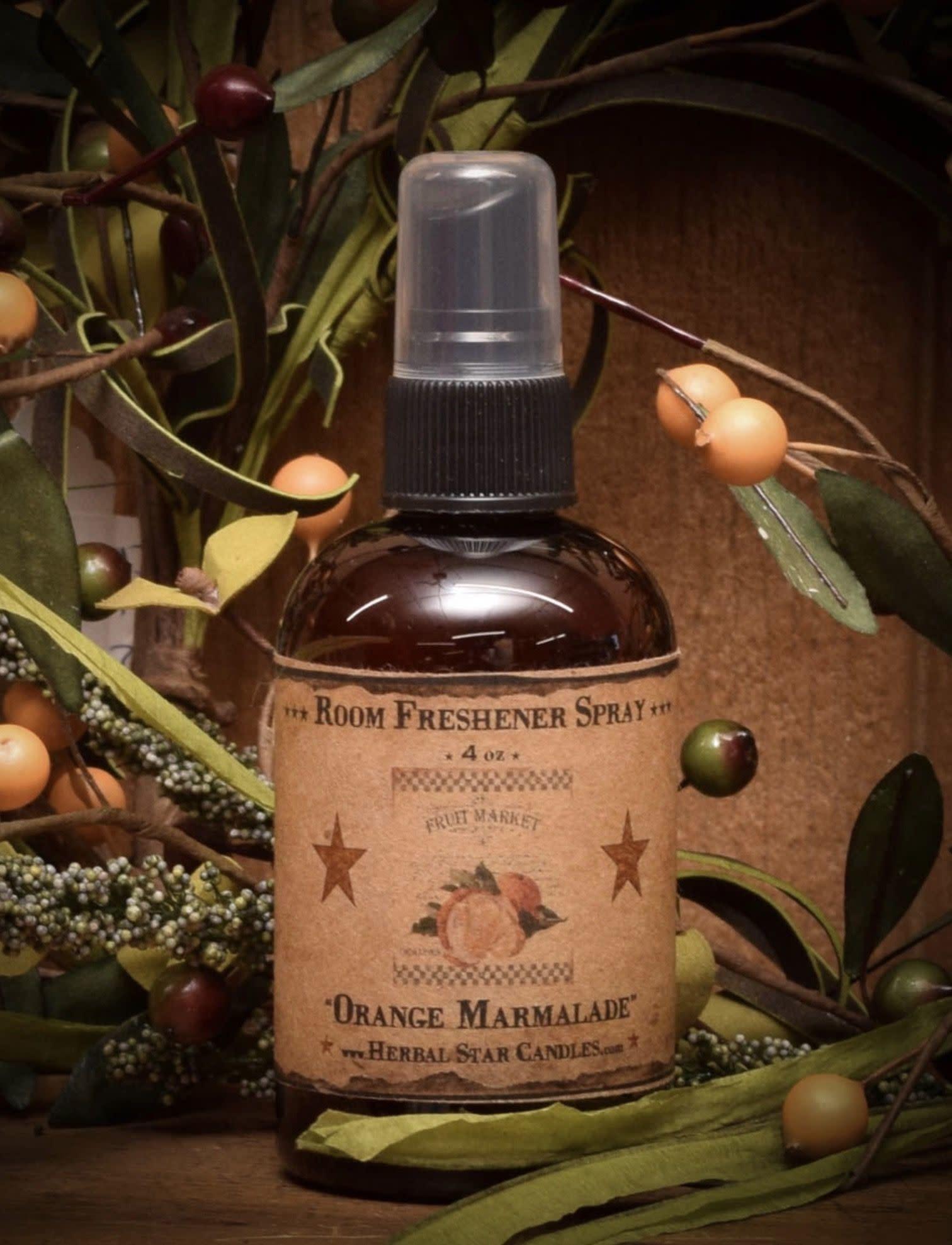 Herbal Star Candles Orange Marmalade Room Spray - 4oz