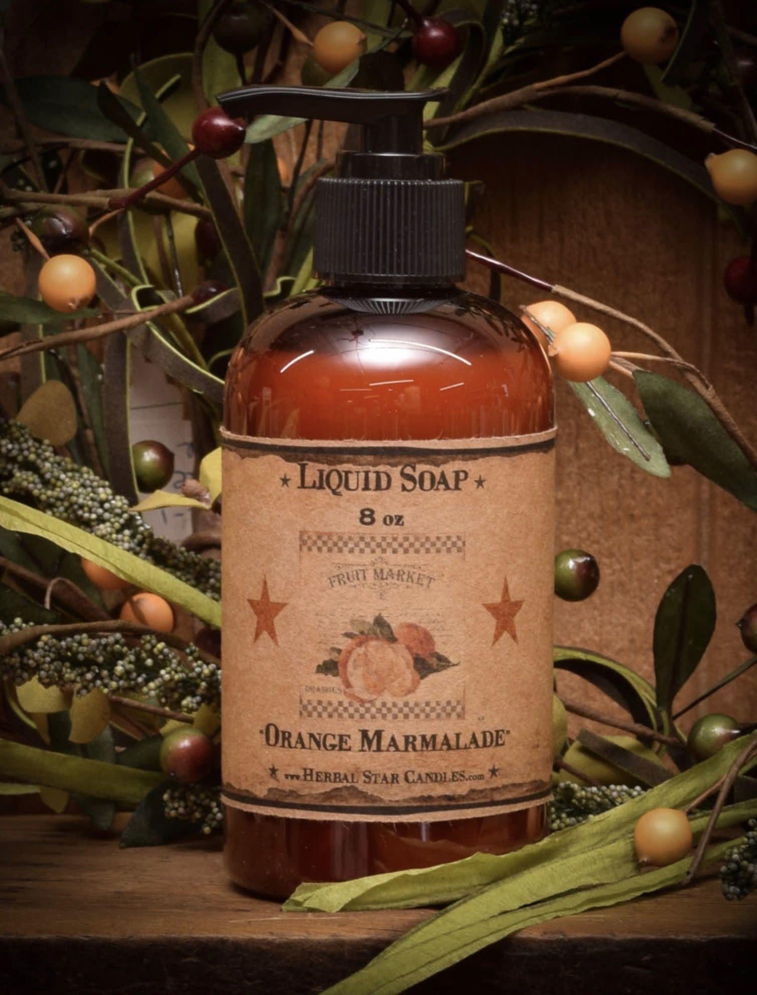 Herbal Star Candles Orange Marmalade Liquid Hand Soap - 8 oz