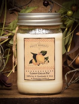 Herbal Star Candles Lemon Cream Pie Soy Jar Candle
