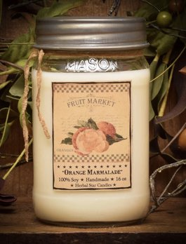 Herbal Star Candles Orange Marmalade Soy Jar Candle