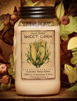 Herbal Star Candles Caramel Sweet Corn Soy Jar Candle