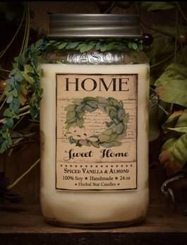 Herbal Star Candles Home Sweet Home Jar Candle 24oz