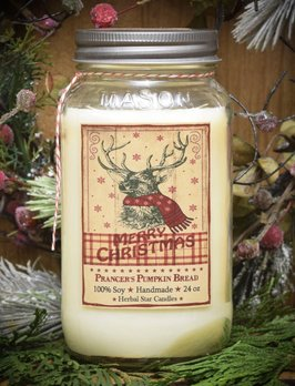 Herbal Star Candles Prancer's Pumpkin Bread Soy Jar Candle