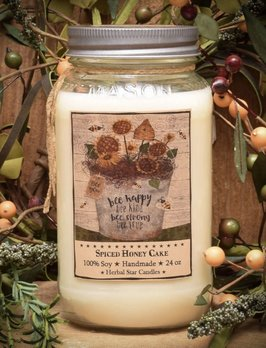 Herbal Star Candles Spiced Honey Cake Jar Candle 24oz