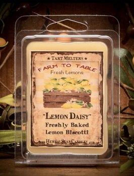 Herbal Star Candles Lemon Daisy Creamy Lemon Biscotti Mini Pack of Tarts