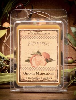 Herbal Star Candles Orange Marmalade Mini Pack of Tarts
