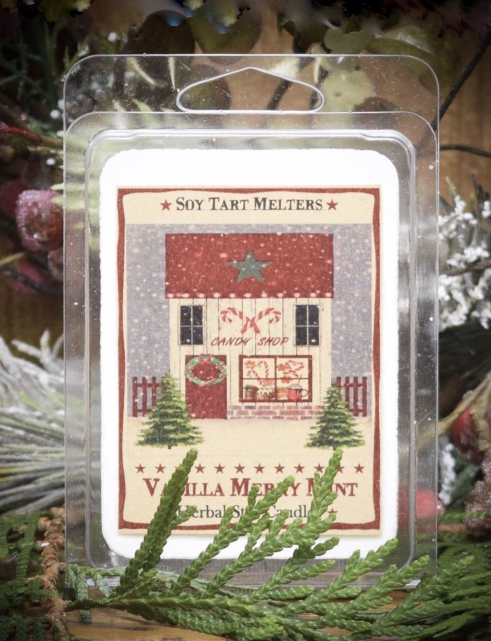 Herbal Star Candles Vanilla Merry Mint Mini Pack of Tarts