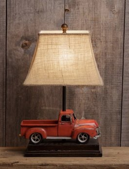 Audreys Vintage Red Truck Lamp