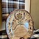 Smith Redware Bee Skep Oval Redware Plate