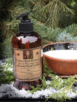 Herbal Star Candles Apple Krisp Kringle Organic Lotion