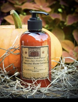 Herbal Star Candles Pumpkin Star Patch Organic Lotion