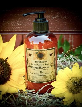 Herbal Star Candles Sunflower Organic Hand Lotion