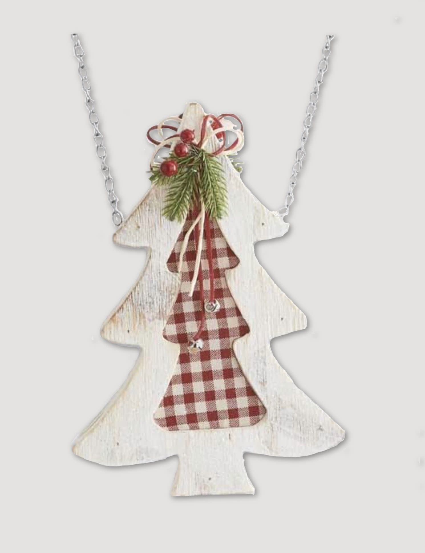 K & K Interiors White & Red Gingham Tree Arrow Replacement