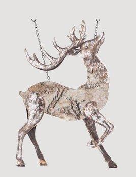 K & K Interiors Antiqued Metal Deer Arrow Replacement