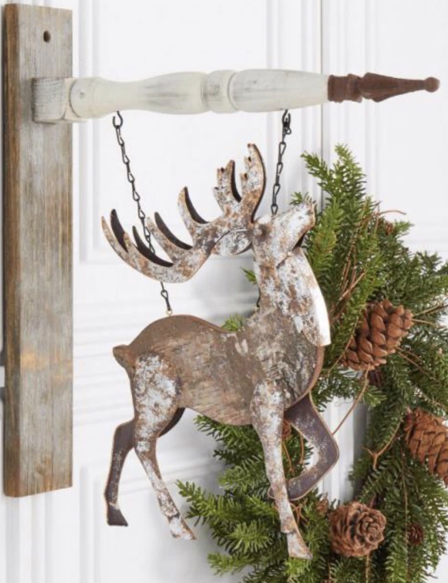 K & K Interiors Antiqued Metal Deer Arrow Replacement