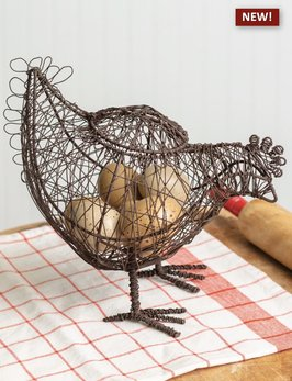 CTW Home Collection Twisted Wire Hen Basket