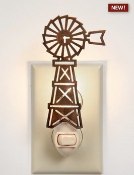 CTW Home Collection Farmhouse Windmill Night Light