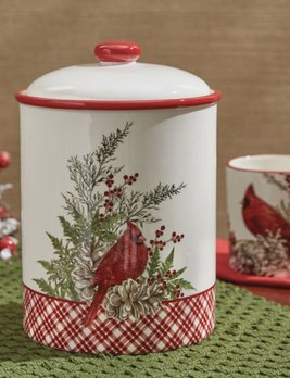 Park Designs Cardinals Cookie Jar