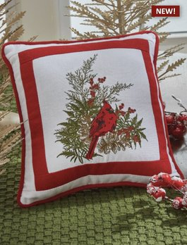 Park Designs Cardinal Embroidered Pillow