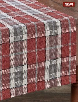 Park Designs Sketchbook Snowman Plaid Table Runner