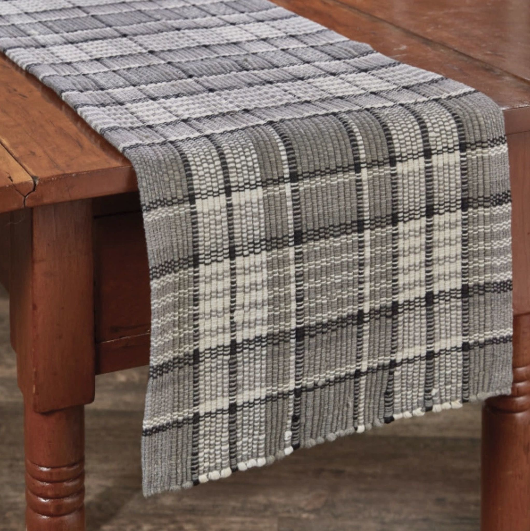 """Park Designs Grey Area Chindi Table Runner - 13"""" x 36"""""""