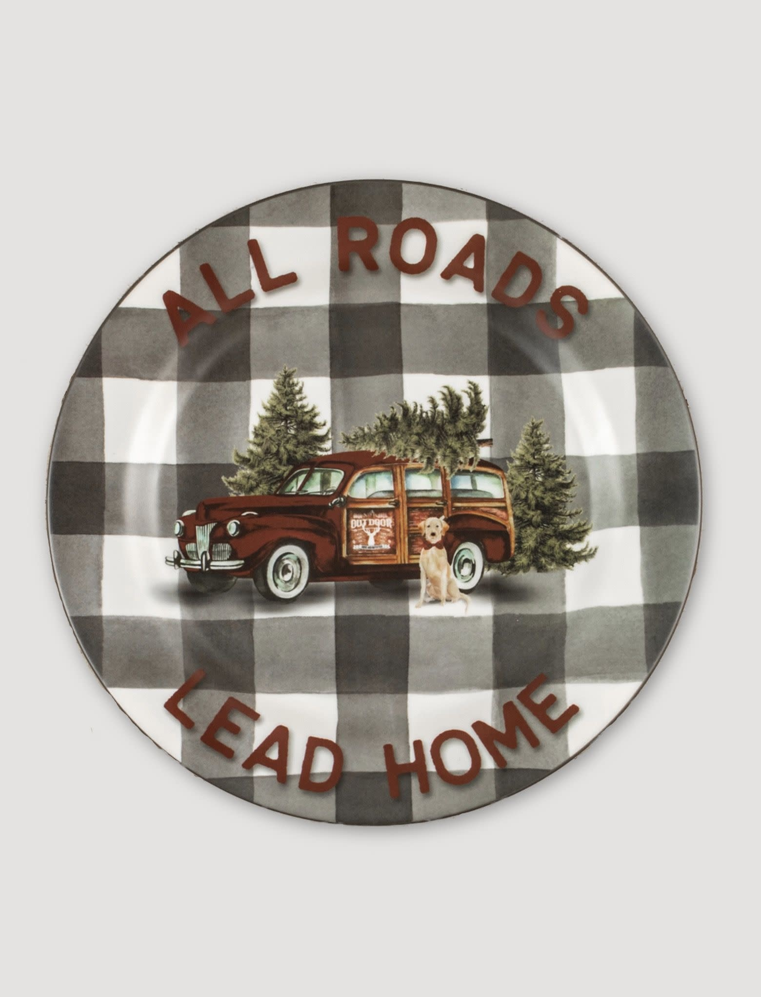 Ragon House Collection All Roads Lead Home Plate - 10""