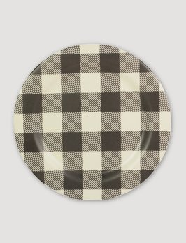 Ragon House Collection Black & White Buffalo Check Plate