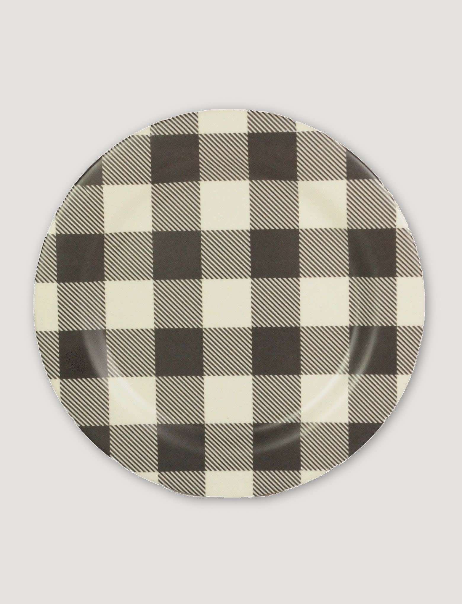Ragon House Collection Black & White Buffalo Check Plate 10""