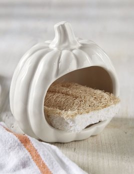 Mud Pie Pumpkin Sponge Holder