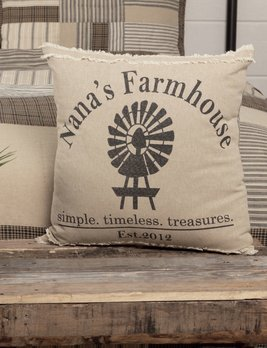 Nana's Farmhouse Sawyer Mill Home Windmill Pillow