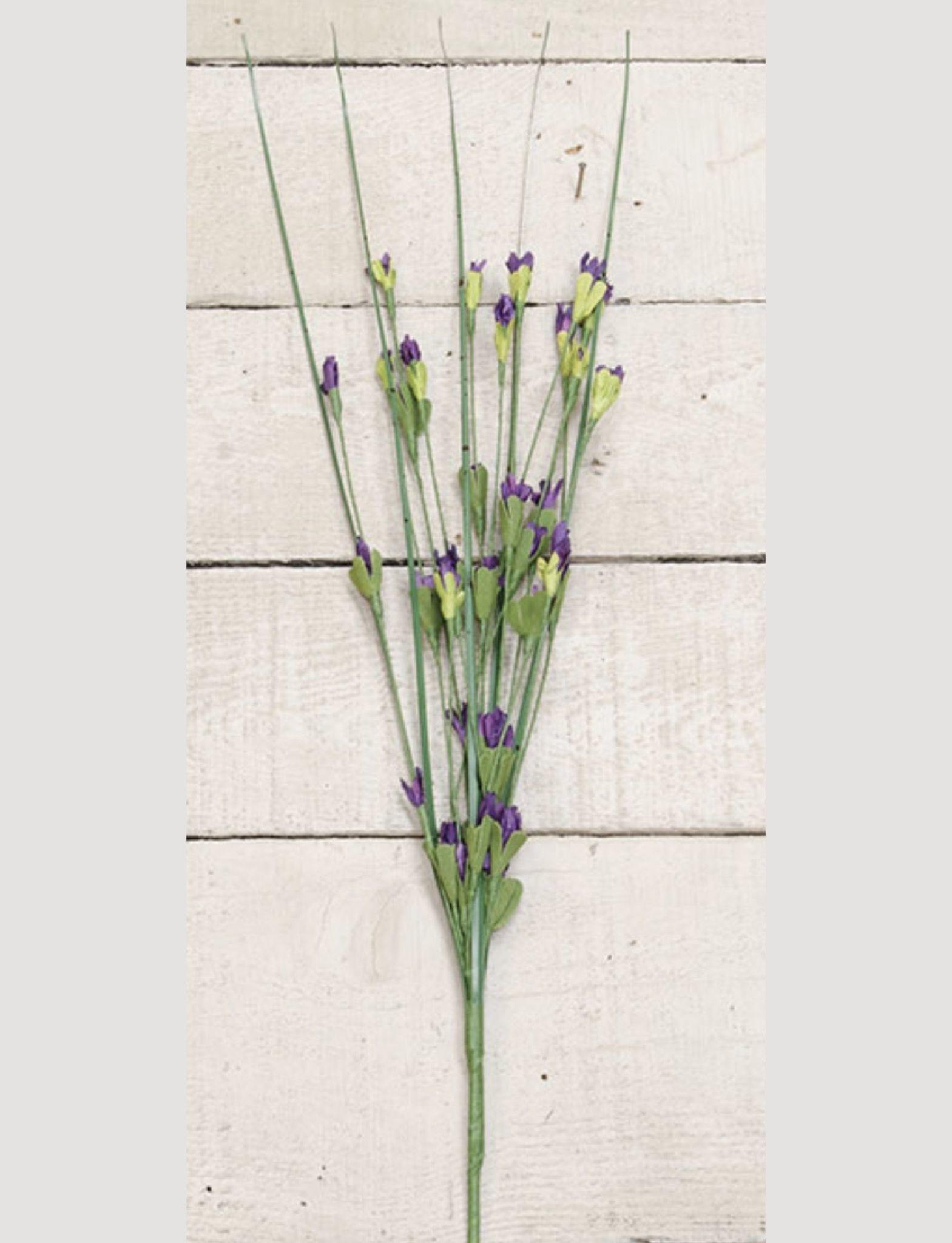 "Nana's Farmhouse Wild Blossom Pick Purple - 16"""