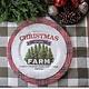 "Ragon House Collection Christmas At The Farm Plate - 10"""