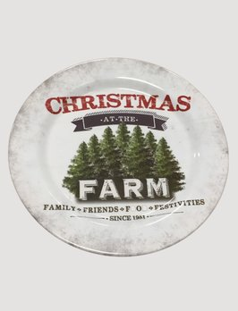 Ragon House Collection Christmas At The Farm Plate