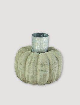 Mud Pie Grey Pumpkin Taper Holder