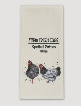 Park Designs Farm Fresh Eggs Print & Embroidered Dishtowel