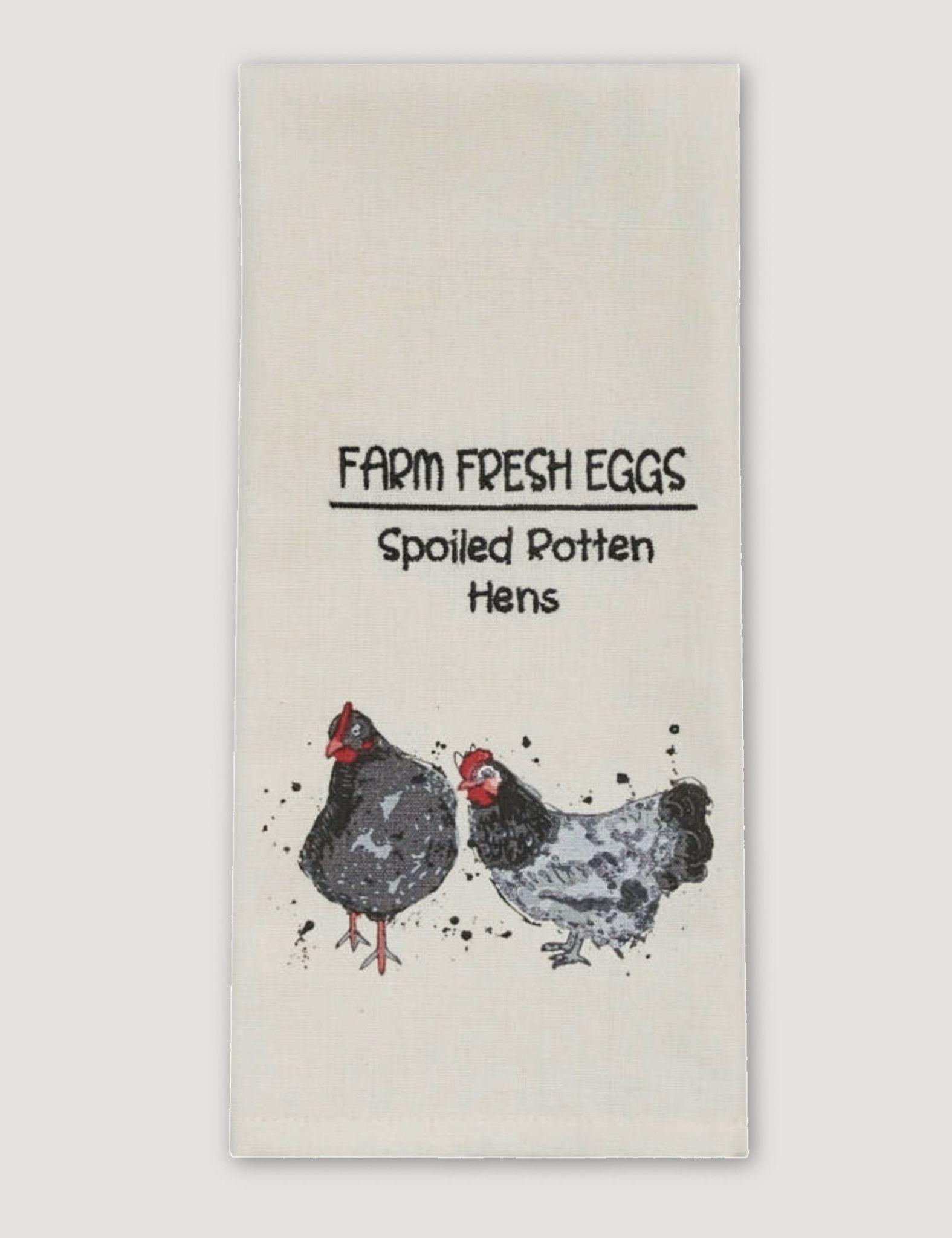 Park Designs Farm Fresh Eggs Print & Embroidered Dishtowel