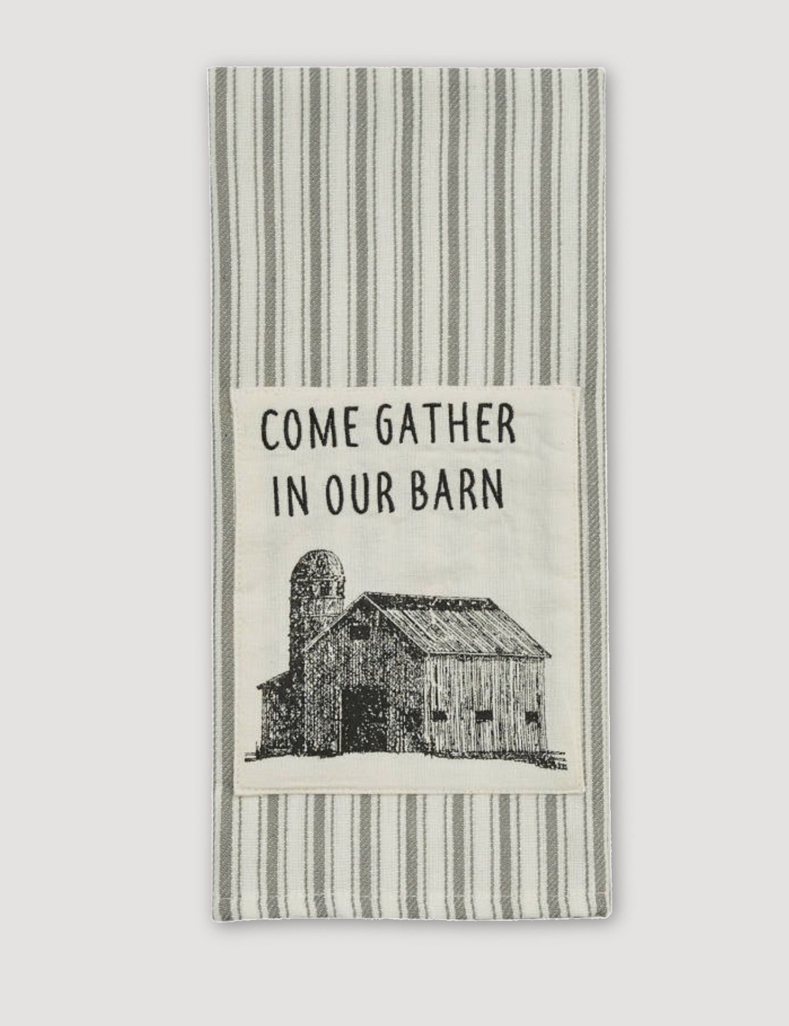 Park Designs Come Gather Print & Embroidered Dishtowel