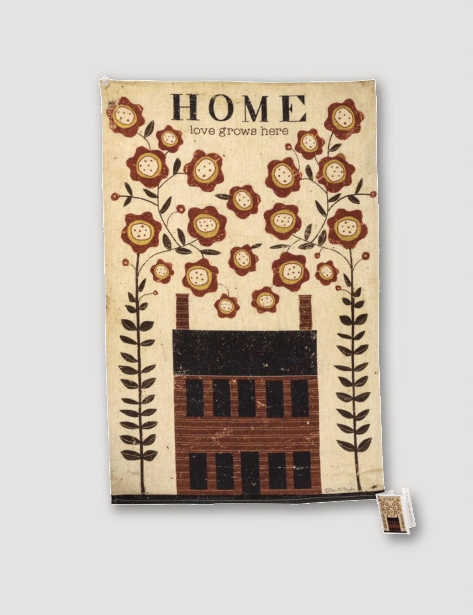 Primitives By Kathy Home Love Grows Here Dish Towel