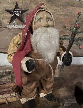 Arnett's AP51 Arnett's Santa Tan Overalls Holding Tree