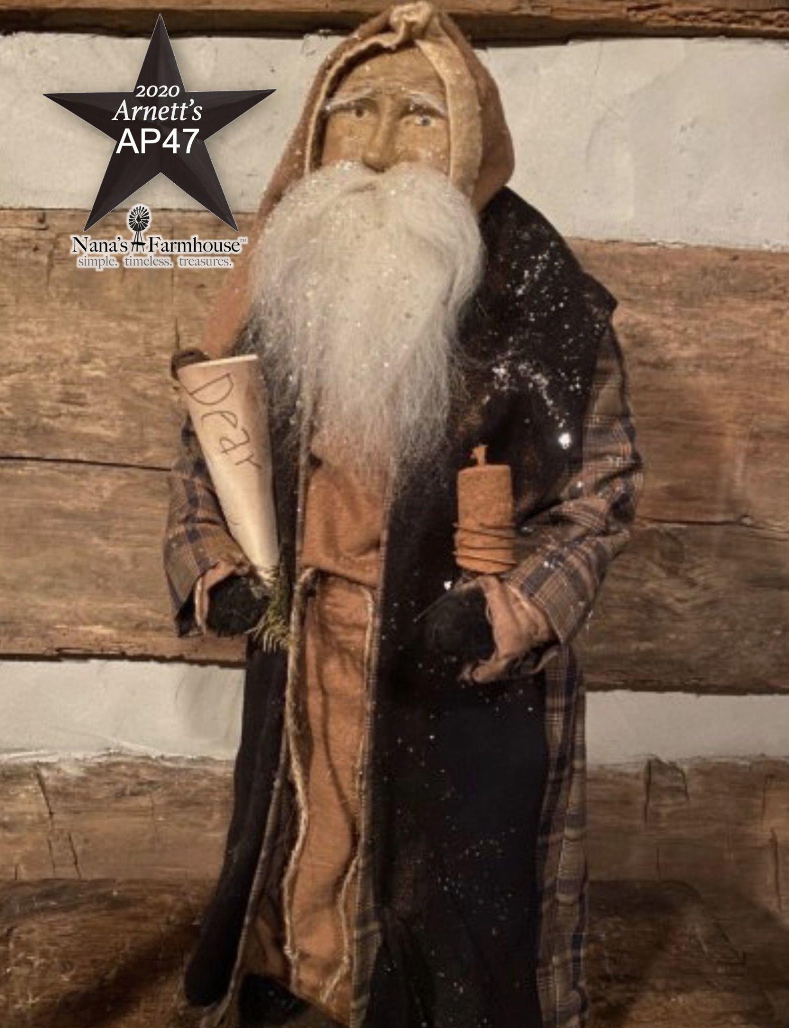 Arnett's AP47 Arnett's Santa Gown with Sash Holding Candle