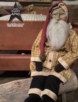 Arnett's AP43 Arnett's Santa Mustard Coat Shelf Sitter