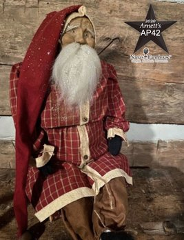 Arnett's AP42 Arnett's Santa Red Homespun Coat Shelf Sitter