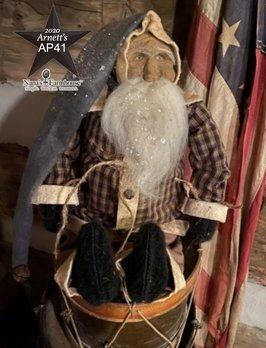 Arnett's AP41 Arnett's Santa Homespun Coat Shelf Sitter