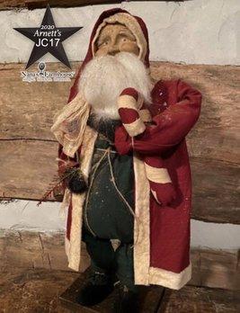 Arnett's JC17 Arnett's Santa Red Coat Holding Candy Cane