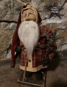Arnett's PD30 Arnett's Santa Red Homespun Suit with Tree