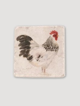 Nana's Farmhouse Set Rooster Resin Coasters