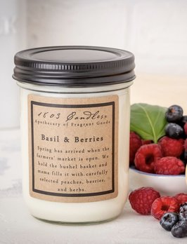 1803 Candles 1803 Basil & Berries Candle