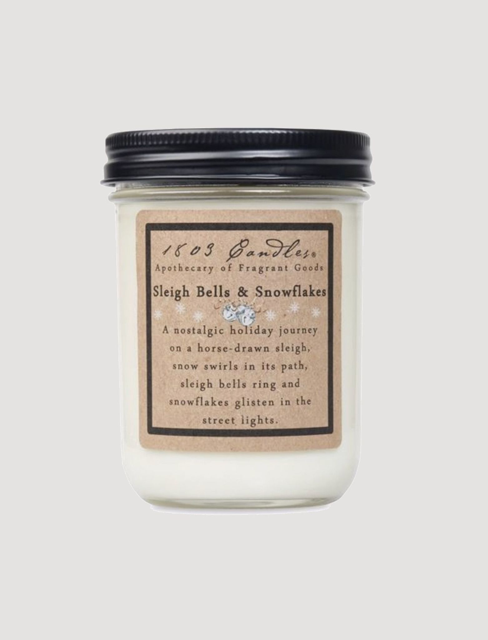 1803 Candles 1803 Sleighbells & Snowflakes Candle