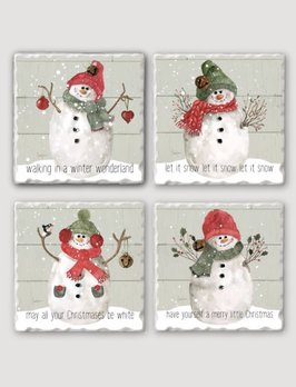 Conimar Art Christmas Snowmen Coaster Set